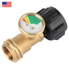 Propane Tank Gauge Rv Pressure Brass Adapter Gas Level Meter Grill Accessories