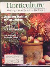 Horticulture Magazine dazzling dahlias joys of fall garden bulbs 1995 october
