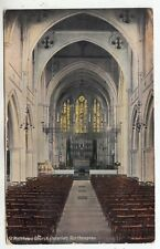NORTHAMPTON  - St Matthew's Church Interior - Kromo Series - 1911 used postcard
