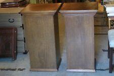 pair of vintage large wood columns/ pedestals indoor display of huge antique art