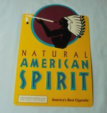 Natural American Spirit America Best Cigarette Tobacco Metal Tin Sign Yellow
