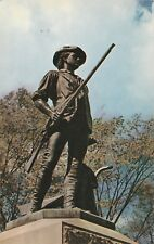 "*Massachusettes Postcard-""The National Guard Minuteman Statue"" /Concord/"
