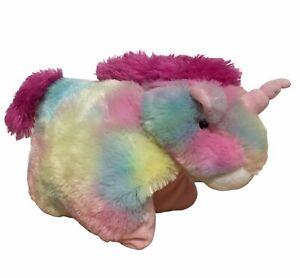 Pillow Pet Rainbow Unicorn Horse Convert From Animal To Pillow Multicolour