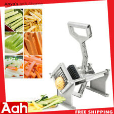 Potato French Fry Fruit Vegetable Cutter Slicer Commercial Qualityw/ Blades US