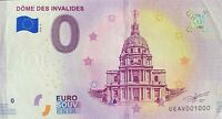 BILLET 0  EURO DOME DES INVALIDES PARIS FRANCE 2018  NUMERO 1000