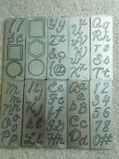 Set Of 10 Provocraft Metal Dies - Letters & Numbers