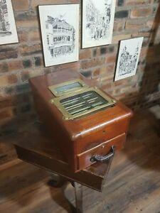 Antique Vintage O'brien Liverpool Cash Register Wooden Till Drawer Very Rare