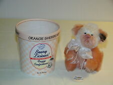 "Vintage Annette Funicello Orange Sherbeart Beary Licious Ice Cream Bear 5"" wTags"