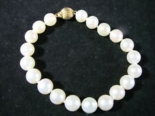 Genuine Natural Fresh Water Pearl  Bracelet  White P44
