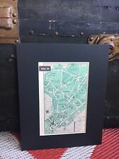 City Map of Bombay India 1958 Mid Century Black Matted 8x10 Art Print travel