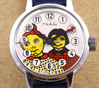 Ruhla Max  Moritz Moving Eyes Mechanical Children Watch 29mm New Old Stock