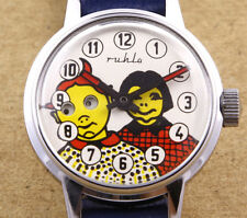Ruhla Moving Eyes Mechanical Children Watch 29mm New Old Stock