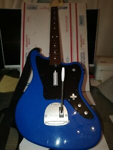 BLUE Rock Band Wireless Fender Jaguar XBOX ONE Guitar Controller 048-074 Tested