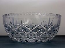 LEAD CRYSTAL CUT GLASS LARGE HEAVY SALAD FRUIT TRIFLE SERVING BOWL 22 cm ACROSS