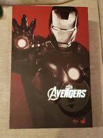 Hot Toys MMS 185 Iron Man 2 Mark VII vii 7 Tony Stark (Normal Version) USED