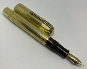 RESTORED Parker Vacumatic CRYSTAL Fountain Pen Lockdown 14K SOLID GOLD Overlay