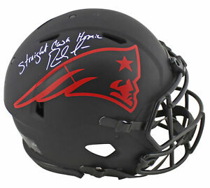 "Patriots Randy Moss ""SCH"" Signed Eclipse Proline F/S Speed Helmet BAS Witnessed"