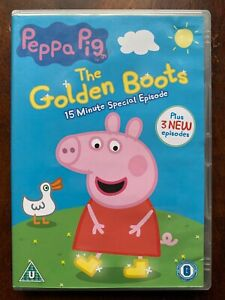 Peppa Pig  DVD Golden Boots British TV / Children's Cartoon Favourite