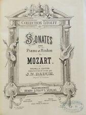 TRES RARE - SONATES POUR PIANO ET VIOLON DE MOZART - MOZART - PARTITIONS - 2 VOL