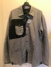 Coldsmoke Blue & Black Quilted Elbow Patch Shirt Jacket Size XL