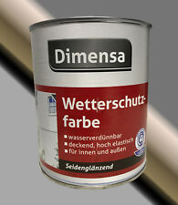 Dimensa Wetterschutzfarbe 0,75L deckende Holzfarbe für Holztore, Fachwerk uvm