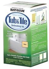 Rust-Oleum Biscuit Tub Sink Tile Refinishing Paint Porcelain Repair Restore Kit