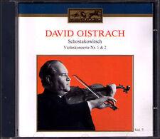 David OISTRAKH: SHOSTAKOVICH Violin Concerto No.1 & 2 KONDRASHIN MRAVINSKY CD