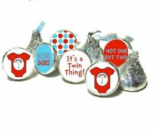 Dr. Seuss Baby Shower Favors Hersheys Kisses Thing 1 Thing 2 Shower Guest Favors