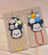 2pcs Disney TSUM TSUM mickey pooh bookmark bookmarks QT569 Clips
