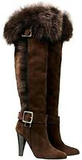 New. $698 Coach Mazur Knee High Women Boots 6.5 M Chestnut .Made in Italy