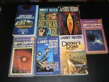 LARRY NIVEN 7 BOOK VINTAGE SCIENCE FICTION LOT 1960'S-70'S