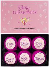 "BRUBAKER 6 Handmade ""Shiny Diamonds"" Fizzing Bath Bombs - All Natural & Vegan"