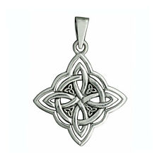 Celtic Knot Pendant 6.3 g STAMPED 925 Solid Sterling Silver Square BELDIAMO