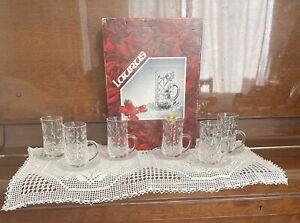 RCR Laurus Tea Set Crystal Glass Cup & Saucer 12 Pcs, 6 Tumblers +6 Small Dishes