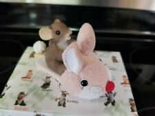Charming Tails You're Hoppy Little Sole Fuzzy Bunny Slipper Slippers Mouse Pink