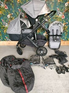 UPPAbaby VISTA 2015-2018  Double In Pascal (Grey/Carbon)