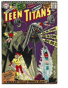 Teen Titans #8 (4/67) VG/F (5.0) Robin! Aqualad! Kid Flash! Great Silver Age!