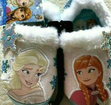 DISNEY Frozen Elsa & Anna Toddler Size 7-8 Girls Slippers Blue NEW with Tags
