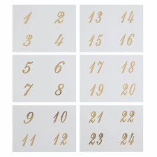 Trimits Stickers Chirstmas Advent Calendar Numbers 24 Pieces