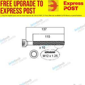 2010 For Volkswagen Polo 6R CAYB Head Bolt Set