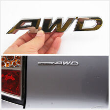100% Metal 3D AWD Badge Logo Car Off-Road Exterior Rear Trunk Decal For Mahindra
