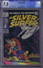 Silver Surfer #4 Marvel 1969 CGC 7.5 (VERY FINE -) Silver Surfer Cover/Story