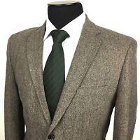 JOSEPH ABBOUD Mens M (40S) Brown Tweed 2-Button Wool Blend Sport Coat/Jacket