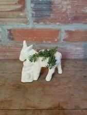 vintage donkey with napping Amigo ceramic planter
