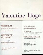 LOT de 3 INVITATIONS VERNISSAGE Valentine HUGO BERARD BRAYER COCTEAU ERNST FINI