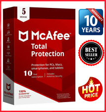 McAfee Total Protection 2020✅ 5 Pc ✅ 10 years antivirus 📩