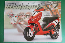 MALAGUTI SCOOTER F12 PHANTOM 50 FOGGY REPLICA  DEPLIANT BROCHURE