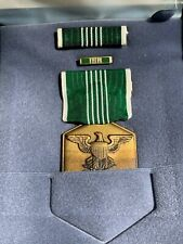 Us Army Commendation Medal, Ribbon Bar, Lapel Pin-Gi Issue-Original-2