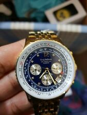 Krug Baumen 400104DS Air Traveller Diamond Blue Dial Golden Steel Strap - Watch