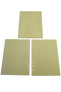 REFILLS FOR MULBERRY PLANER 6 Holes Lined Loose Papers   total 300 pages
